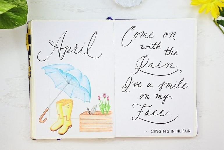 April Bullet Journal