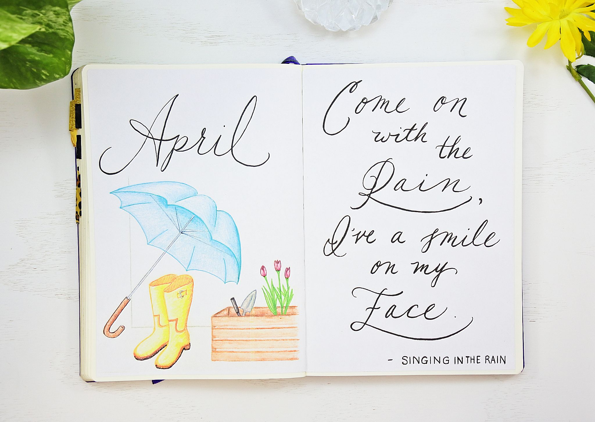 April Setup With 6 Free Printables Sheena Of The Journal