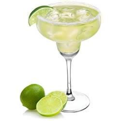 A skinny margarita with salt and limes.