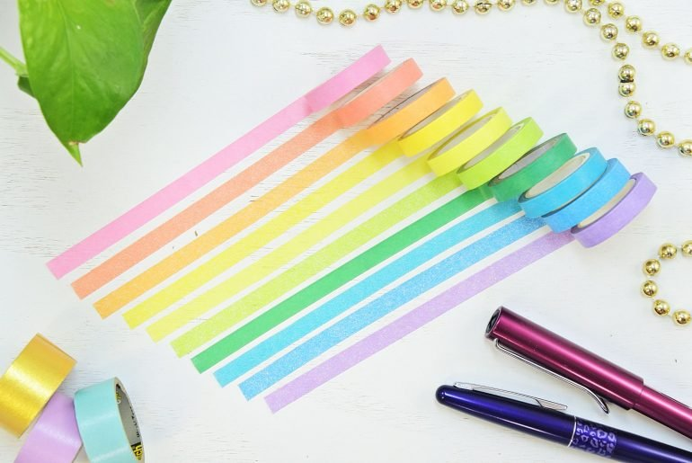 rainbow washi tape