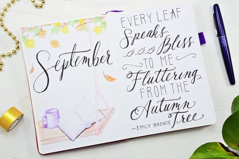 September bullet journal