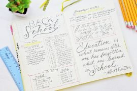 back to school planning bullet journal