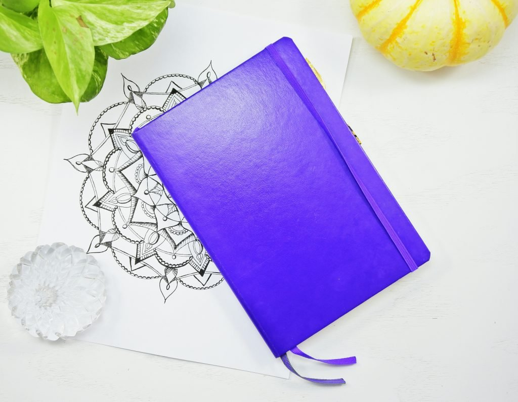 the Leuchtturm 1917 dotted journal notebook in purple