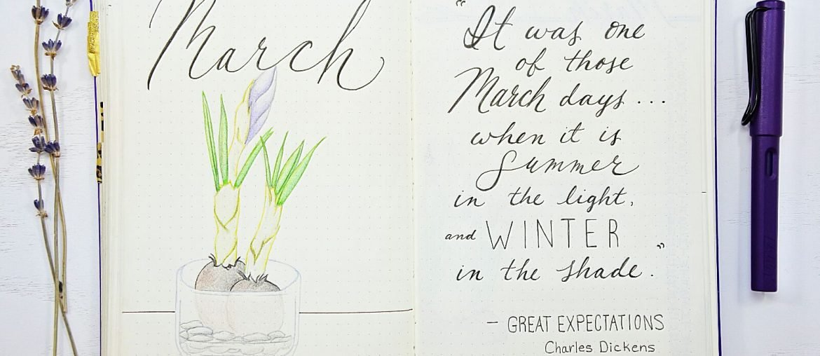 March drawing and quote