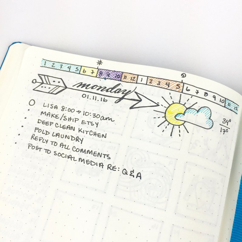 bullet journal time trackers