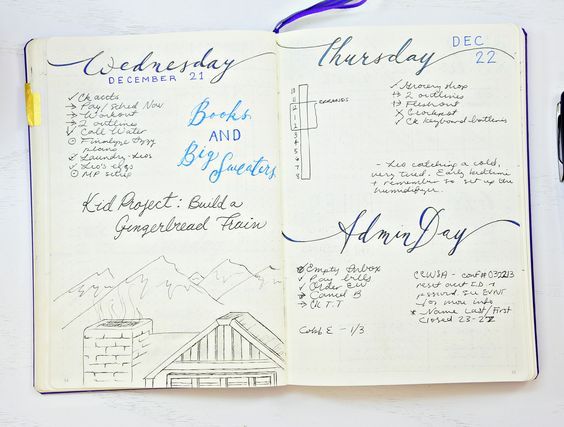 Bullet Journal daily pages - how to start a Bullet Journal