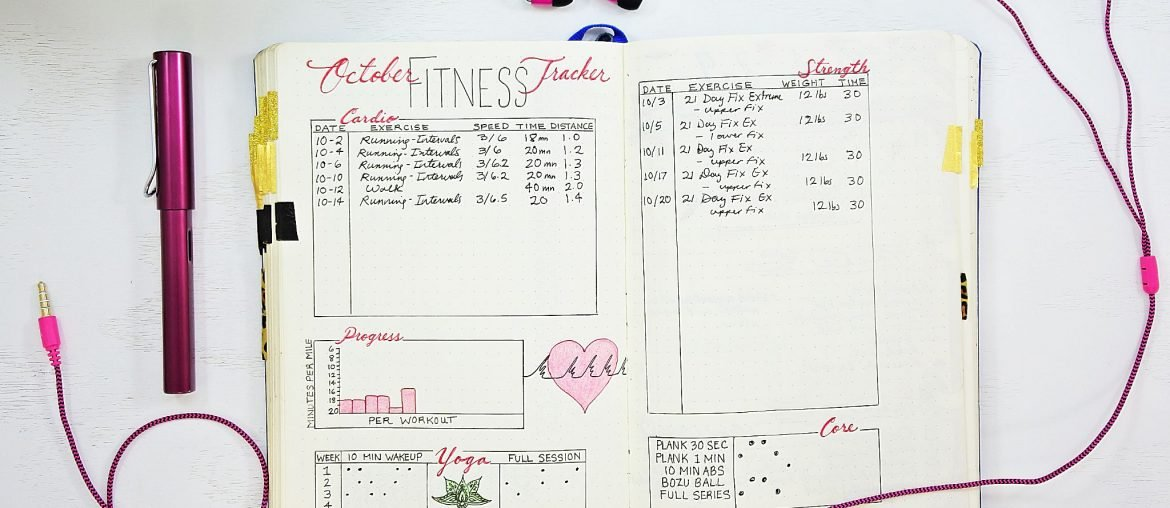 Workout Tracker Bullet Journal