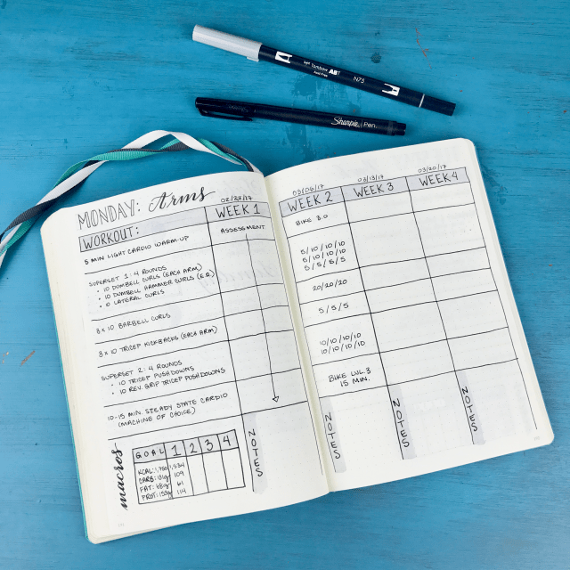 15 Bullet Journal ideas for fitness and workout trackers
