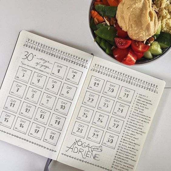15 awesome fitness trakers for your bullet journal