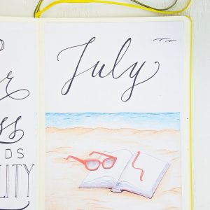 july beach bullet journal