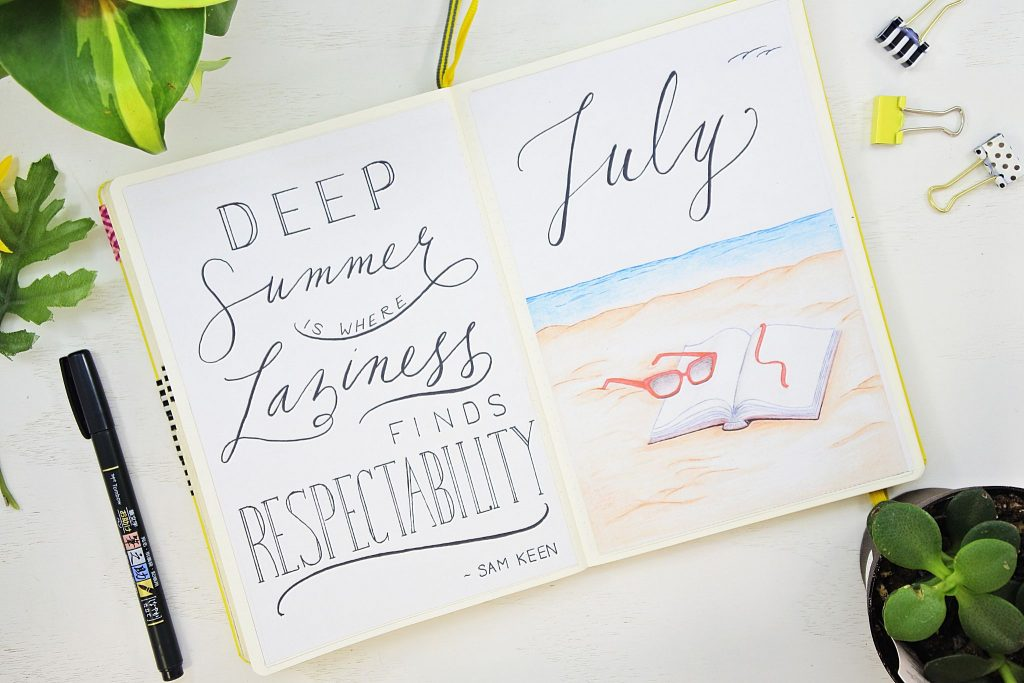 monthly planning bullet journal