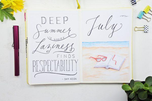 hello july bullet journal