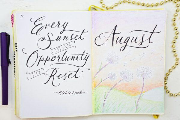 hello august bullet journal