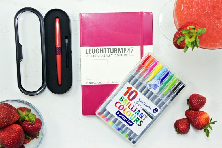 strawberry bullet journal giveaway