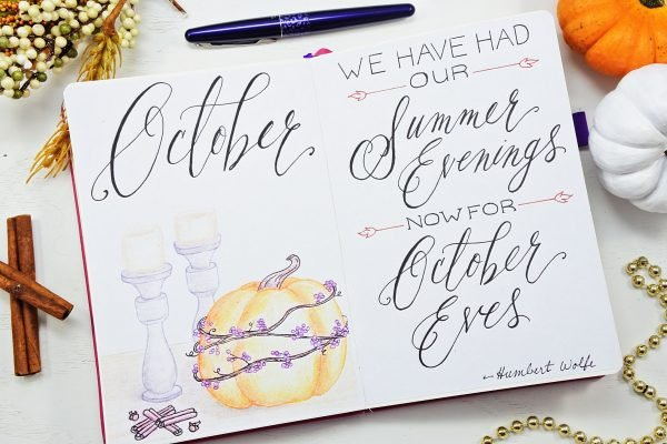 Hello october bullet journal