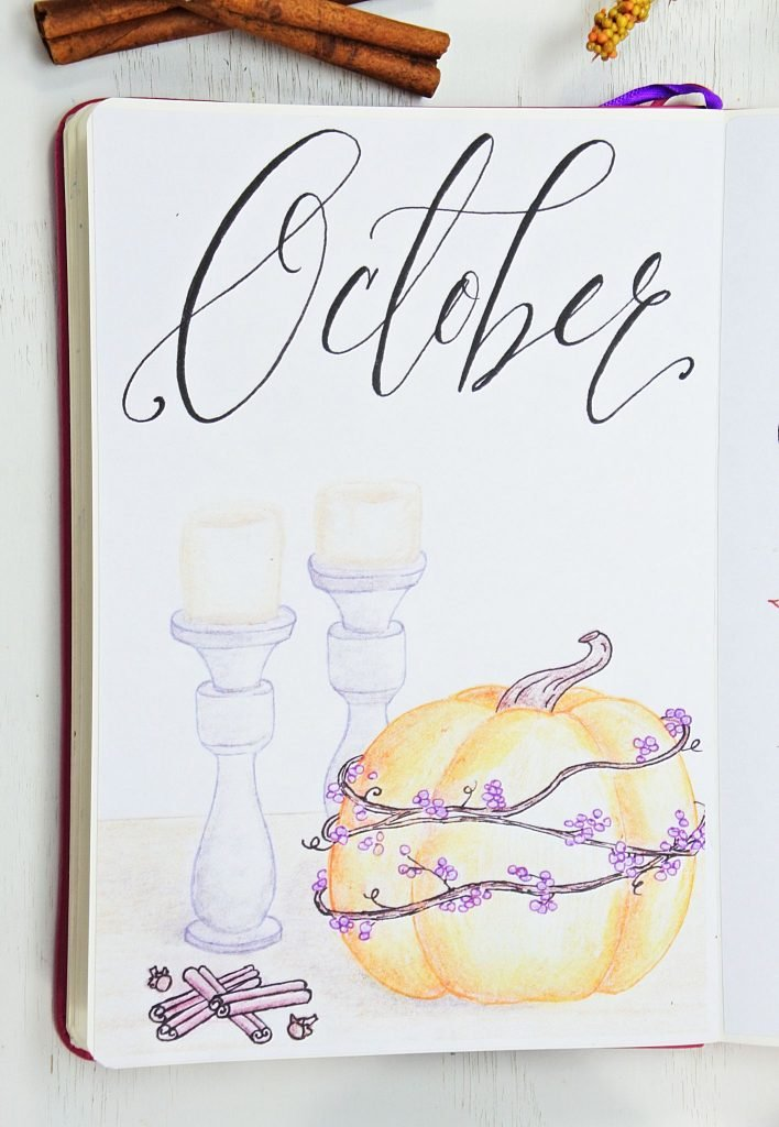 Amazing fall bullet journal cover pages!