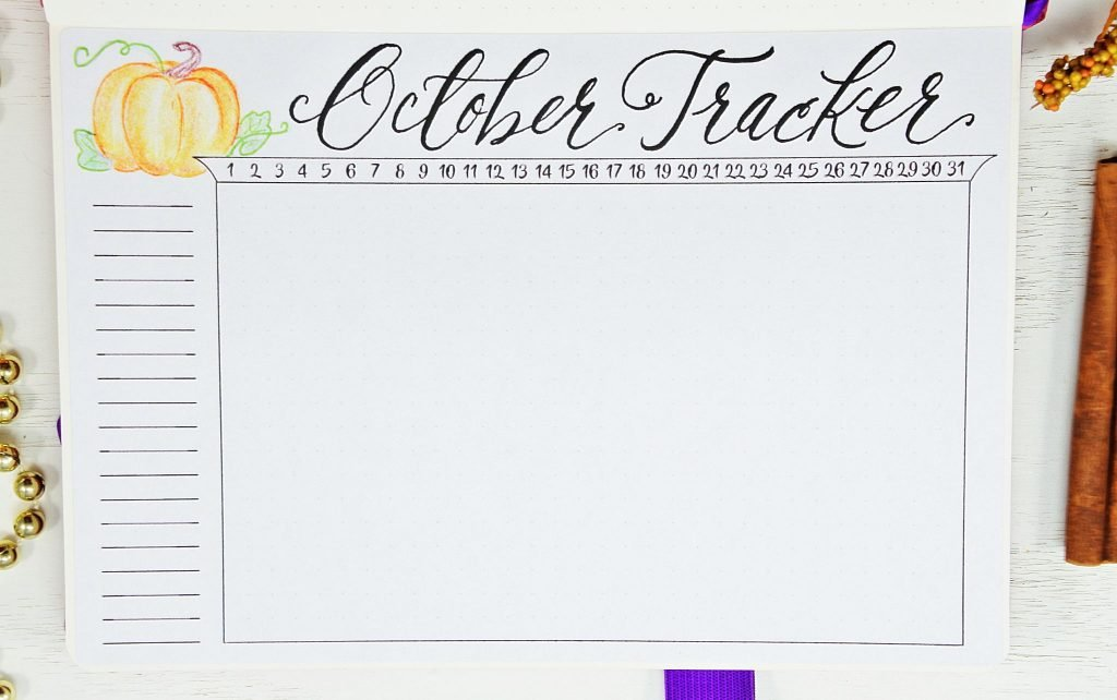 october tracker bullet Journal