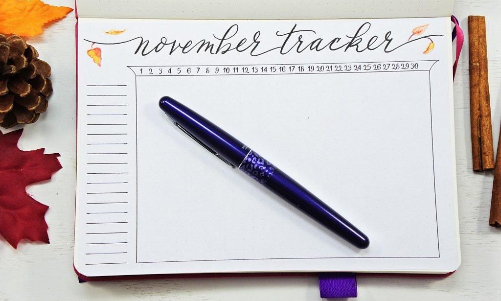 Habit tracker november