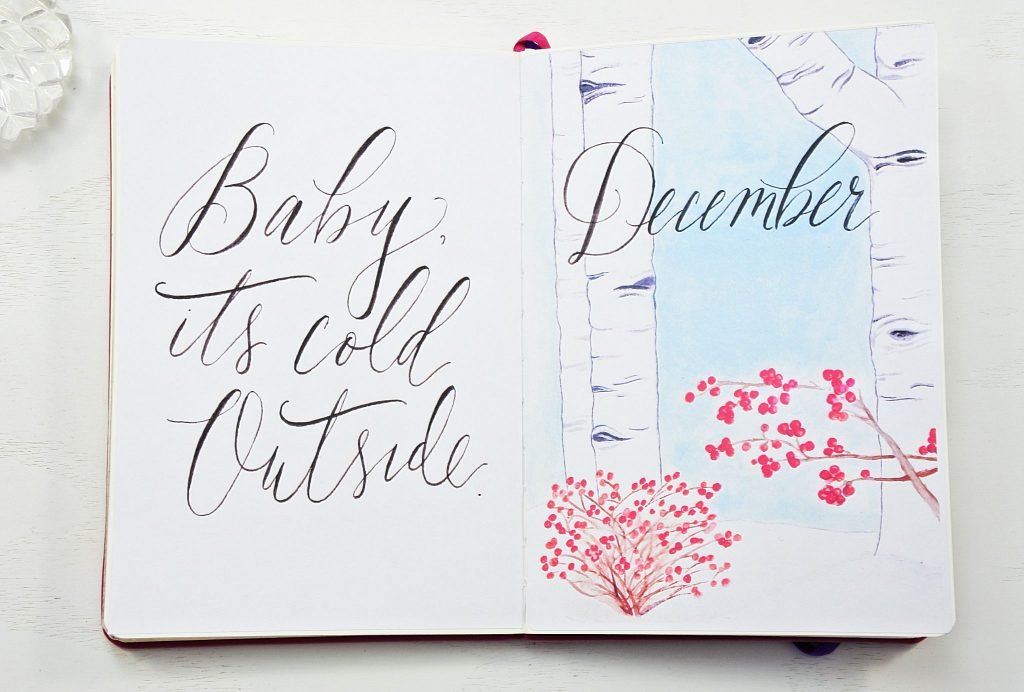 December monthly planning printable bullet journal