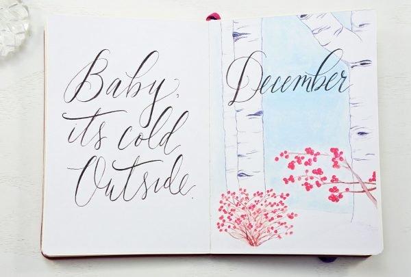 December monthly planning printable bullet journal