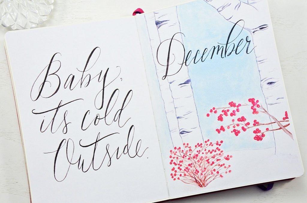 hello december bullet journal