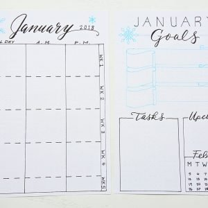 bullet journal monthly layout spread