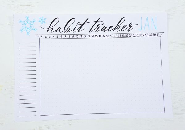 habit tracker bullet journal