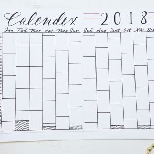 2018 calnedex, bullet journal