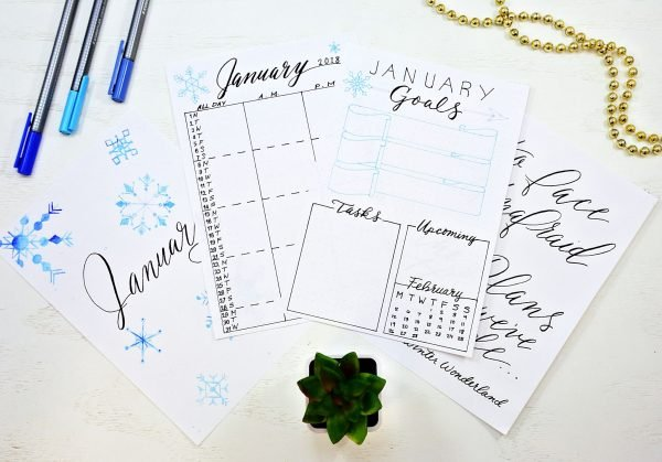 January 2018 Bullet Journal Starter Kit
