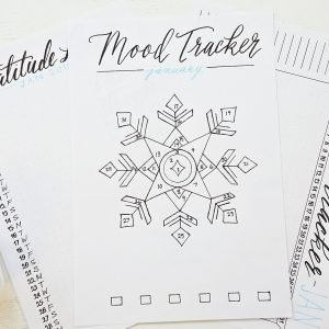 Bullet Journal Monthly trackers