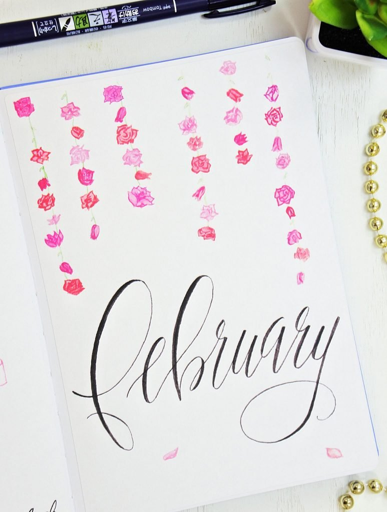 hello february bullet journal