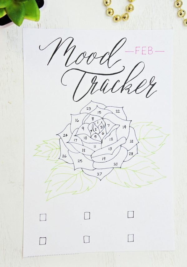 Feb flower mood tracker