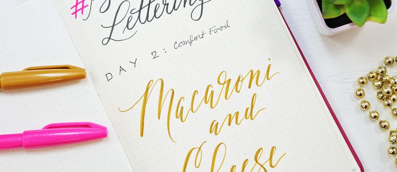 instagram challenge hand lettering