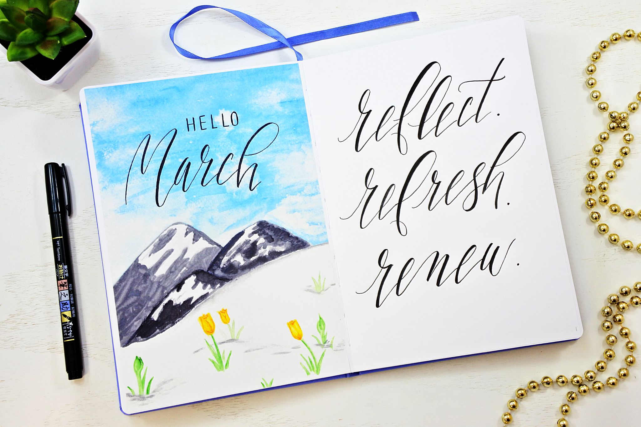printable monthly spreads for march 2018 sheena of the journal