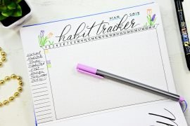 printable bullet journal habit tracker