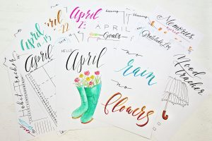 april bullet journal printables