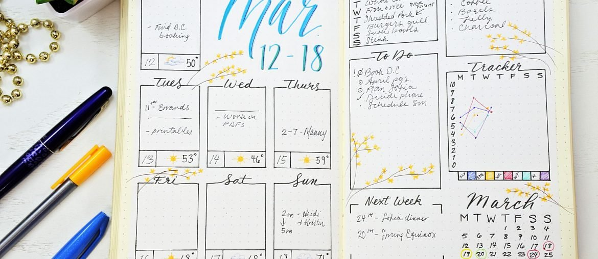 20 Bullet Journal Weekly Spread Ideas