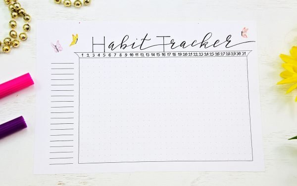 may bullet journal habit tracker