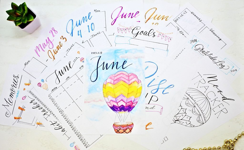 june monthly planning printables