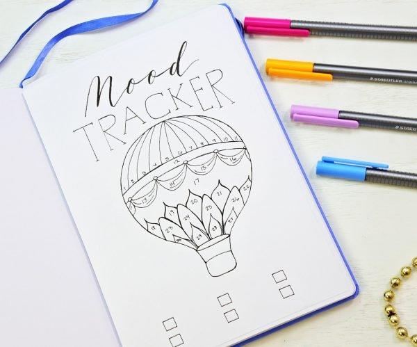 printable bullet journal mood tracker