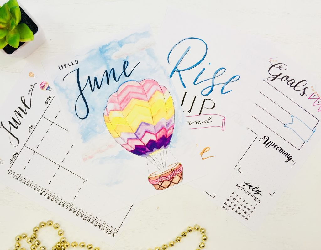 free printables for summer bullet journal