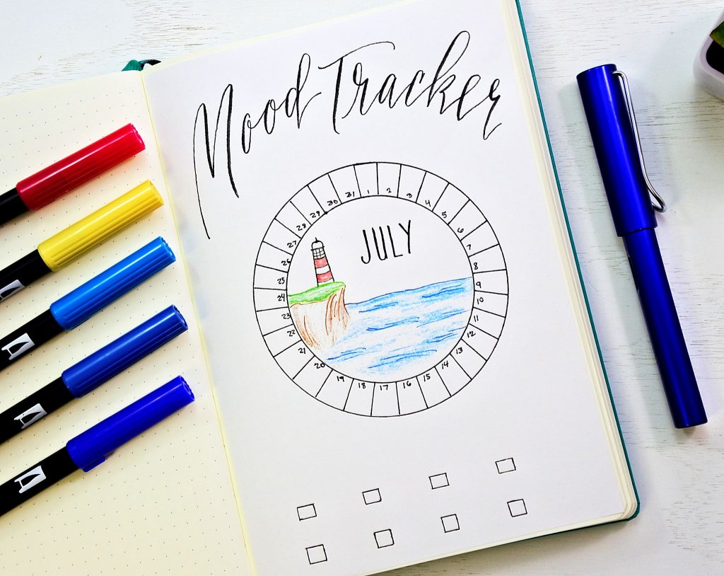 bullet journal mood tracker
