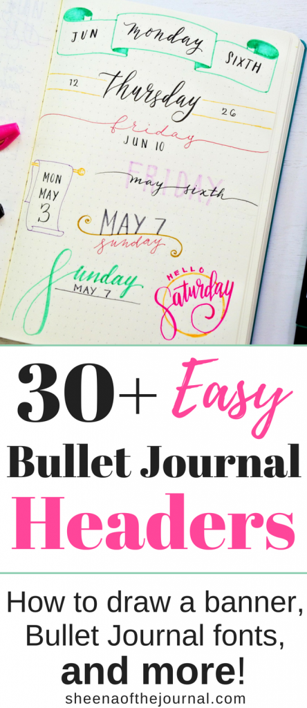 30 Easy Bullet Journal Header Ideas With Tutorial