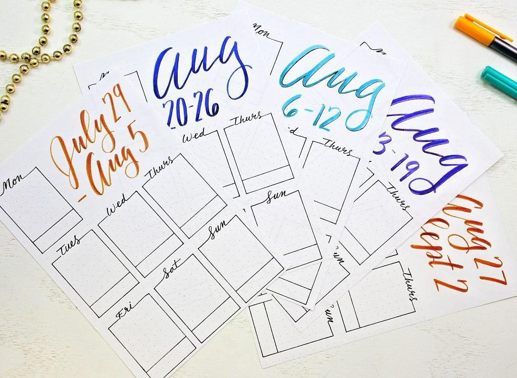 printable weekly layouts