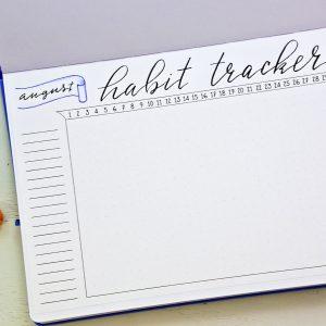 printable minimalist habit tracker