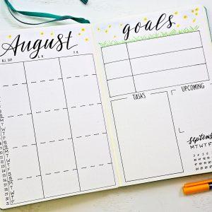 Printable calendars for your bullet journal