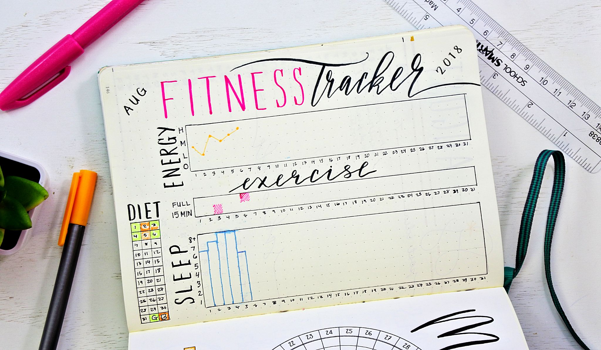 picture about Bullet Journal Weight Loss Tracker Printable referred to as 19 Least complicated Bullet Magazine Guidelines for Exercise routine Trackers and Body weight