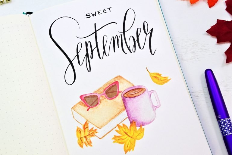 September cover page for your bullet journal! Instant Download!