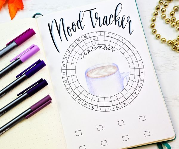 picture relating to Bullet Journal Mood Tracker Printable referred to as September 2018 Bullet Magazine Printables