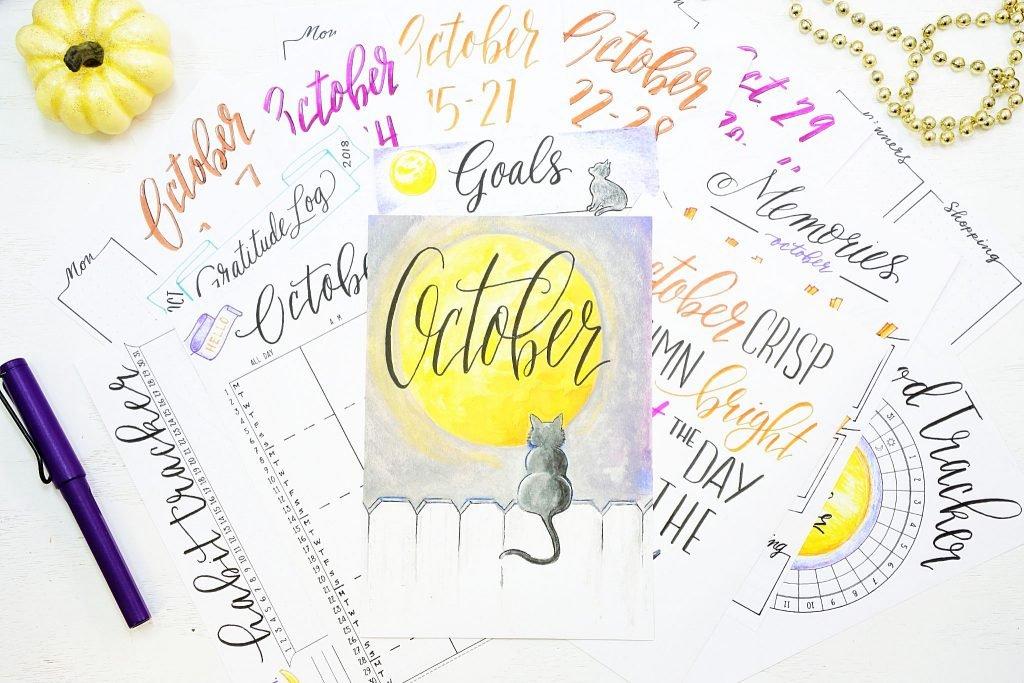 18 bullet journal printables for october!